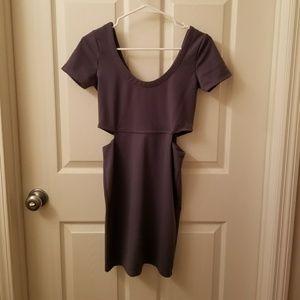 Cut-out Gray Dress